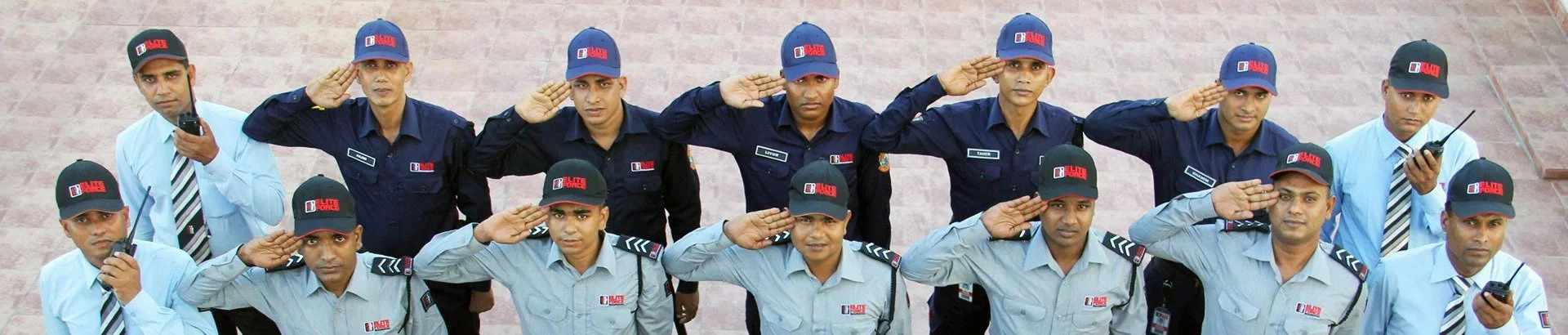 Elite Force Guard Saluting